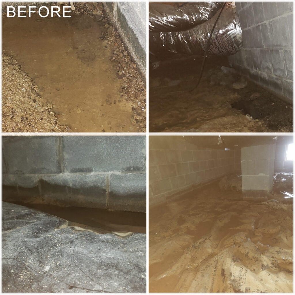 East Tennessee Crawl Space Before Encapsulation